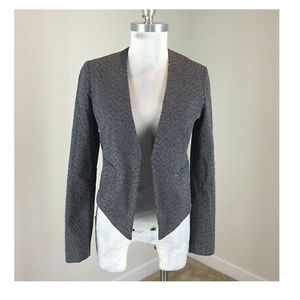 Banana Republic Gray Leopard Print Jacket Blazer